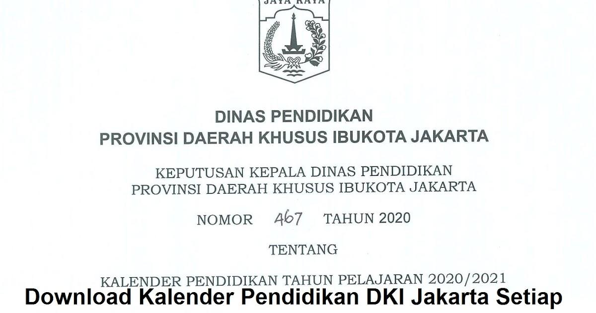 Download Kalender Pendidikan 2020/2021 DKI Jakarta PDF ...