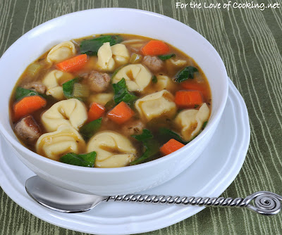 Turkey Italian Sausage and Cheese Tortellini Soup