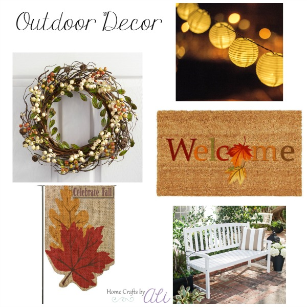 fall decor shopping outdoor lights welcome wreath