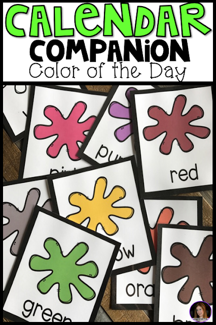 Are you looking for new ways to incorporate important concepts into your daily routine? Concepts like shapes, colors, name, letters and numbers? Then, you and your students will love our Skill of the Day Calendar Companion! The Color of the Day Activities are a great way to introduce and review colors with fun large group calendar like activities