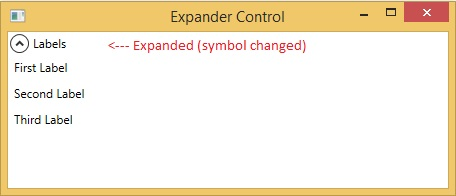WPF Expander control in expanded state