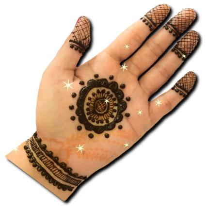 Gol Tikki Mehndi Easy Design