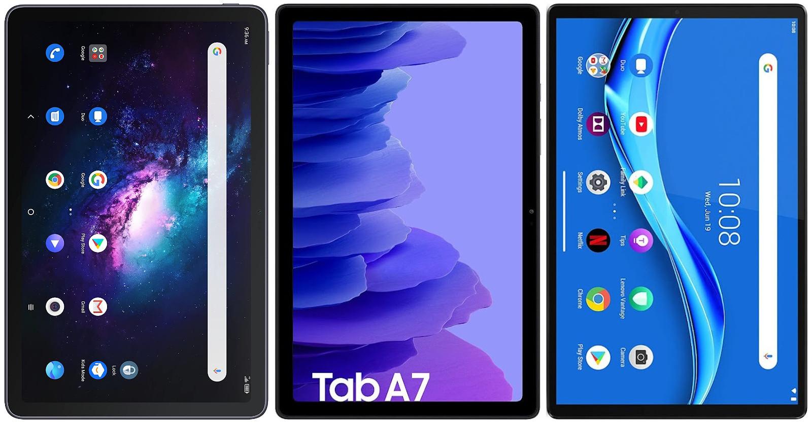 TCL 10 TabMax vs Samsung Galaxy Tab A7 10.4 vs Lenovo Tab M10 FHD Plus