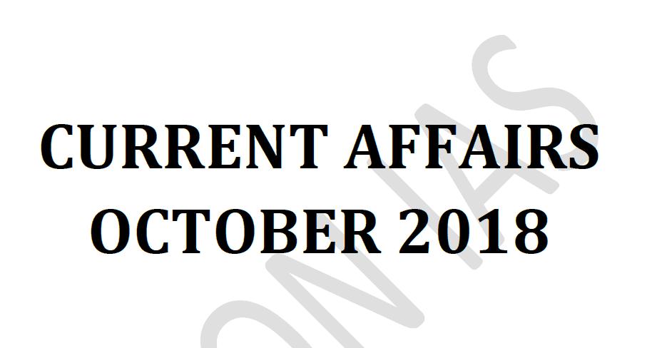 Vision IAS Current Affairs October 2018 pdf