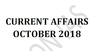 Vision IAS Current Affairs October 2018 - Download PDF