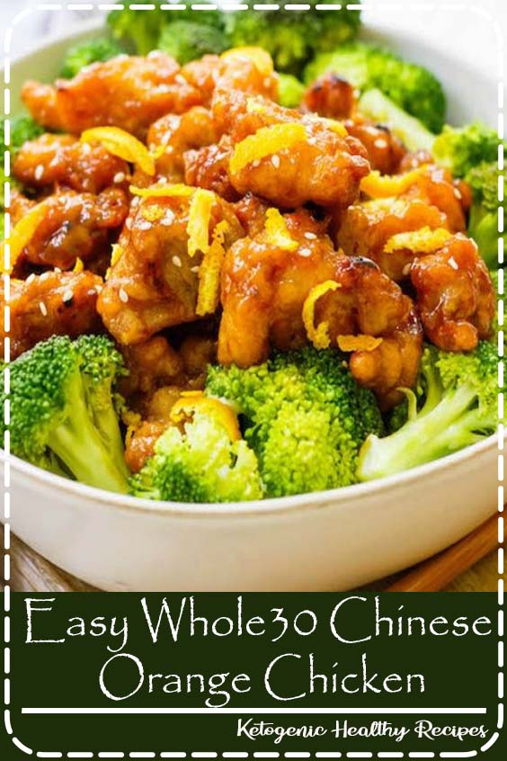 This easy Whole30 Chinese orange chicken is the best takeout fake-out ever. Sometimes you just need some orange chicken in your life, and this version is much healthier and there's no delivery fee! It's also a Paleo orange chicken recipe, which makes it gluten free and made from real ingredients, so you can skip the MSG!#whole30orangechicken#paleoorangechicken#whole30chickenrecipes