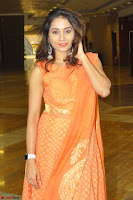 Bhanu Priya in Oreange Ethnic Anarkali Dress 08.JPG