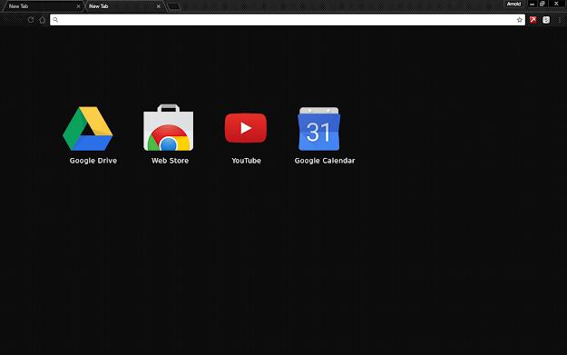 Carbon Blackout Google Theme