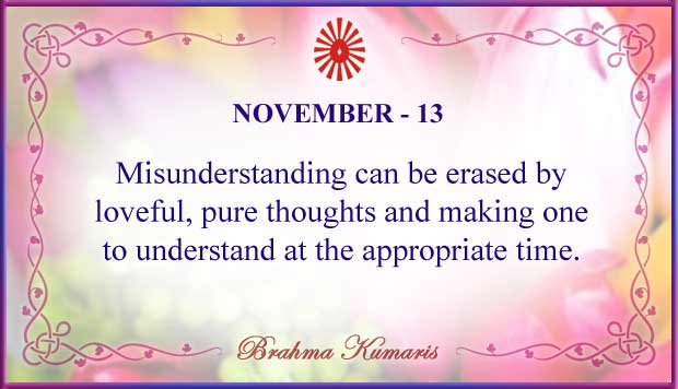 Thought For The Day November 13
