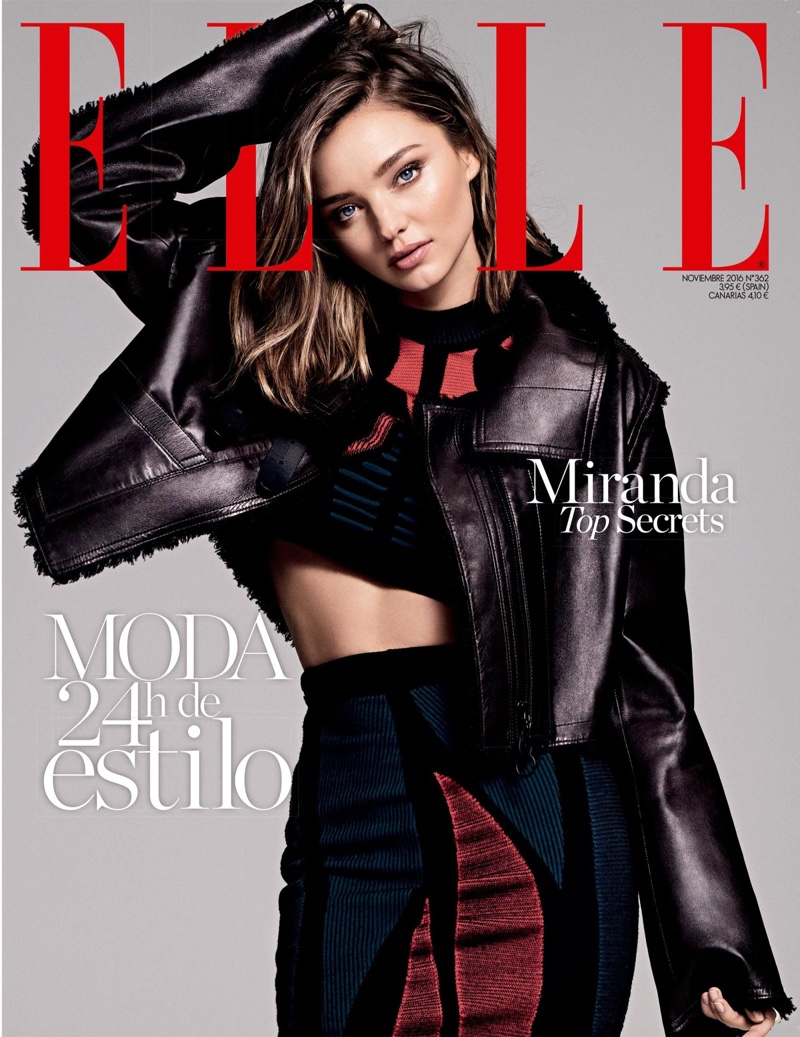 Miranda Kerr on ELLE Spain November 2016 Cover