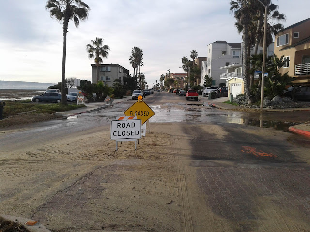 King Tide flooding at Imperial Beach