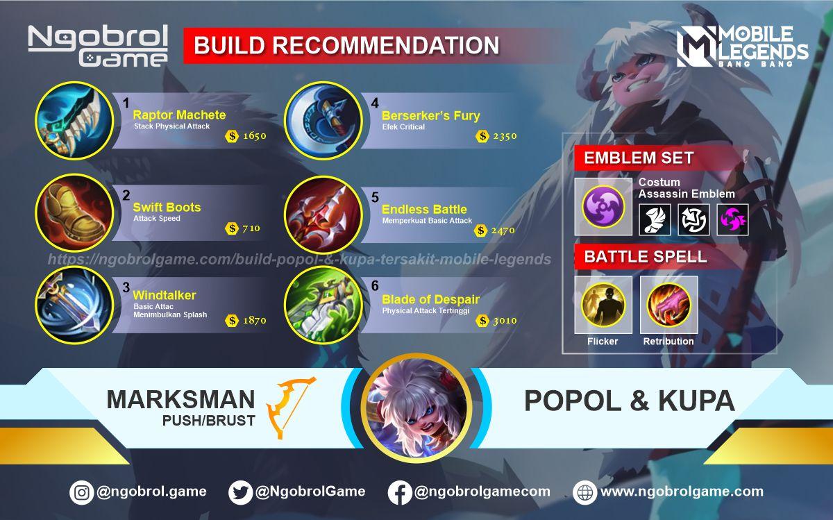 Build Popol dan Kupa Tersakit 2021 Mobile Legends