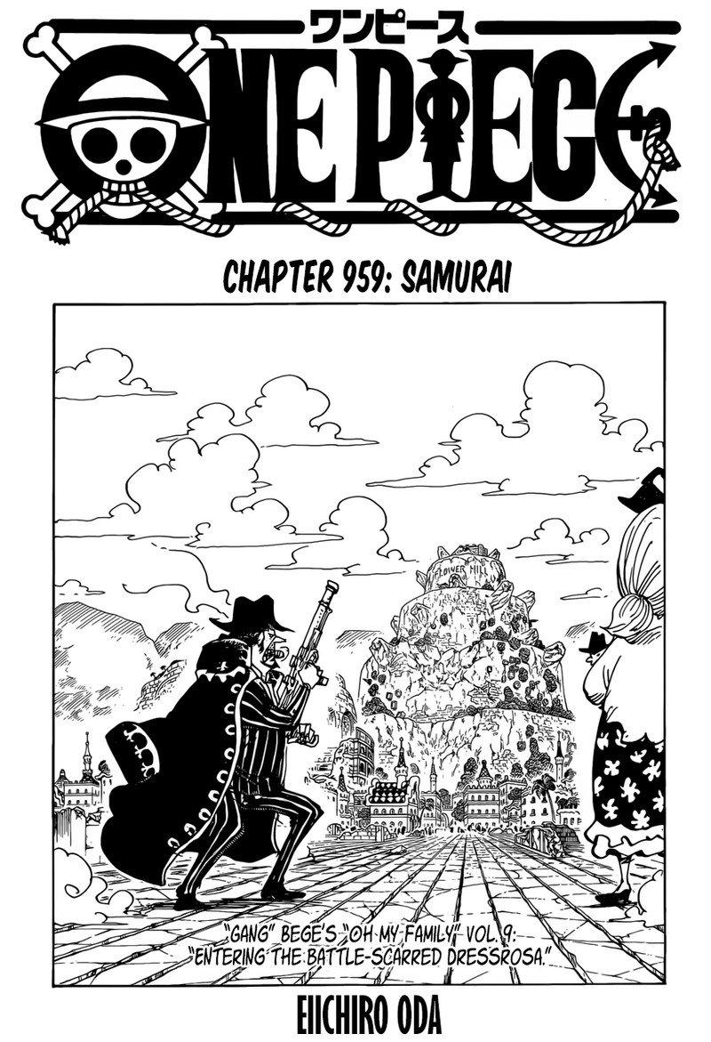 One Piece Manga Chapter 959 - Image 001