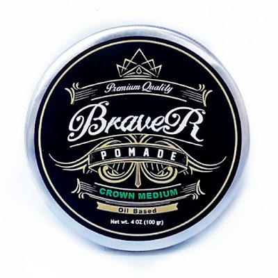 Braver Pomade Type Oil Based Berrysoup Medium Hold