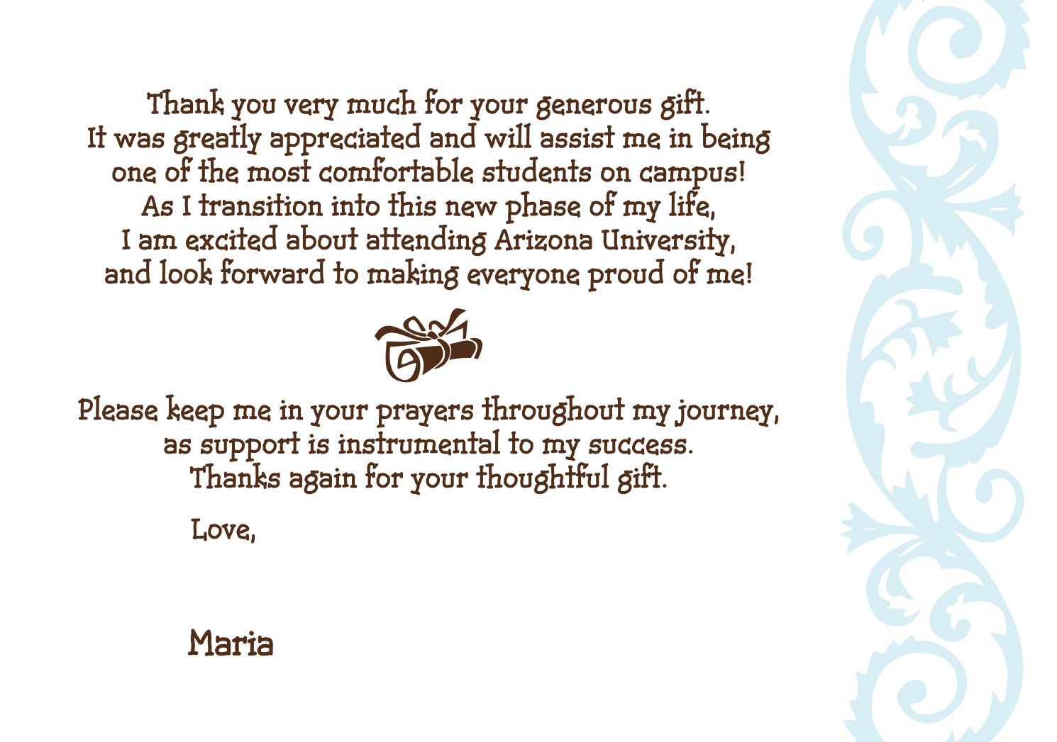 Graduation Thank You Cards: Thank You Graduation Quotes. QuotesGram