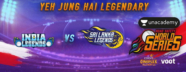 India Legends vs Sri Lanka Legends RSWS 2020 Match No 3