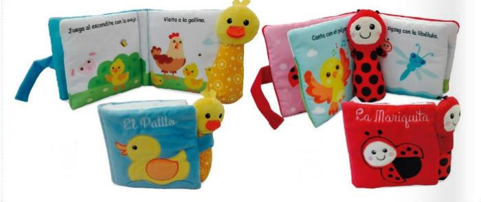 cuentos libros infantiles 0 a 3 años edad regalar navidad libro con sonajero edebé
