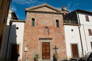 The church of San Michele in Pontorme, Empoli, is just a few steps from the house in which Pontormo was born