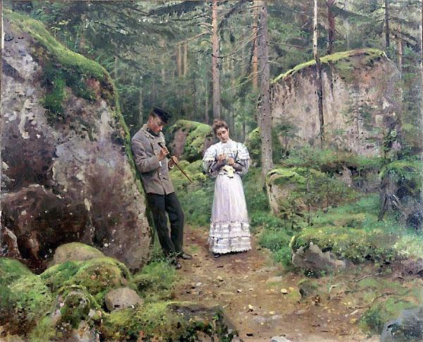 Маковский Владимир Егорович - Перед объяснением (Свидание). 1900