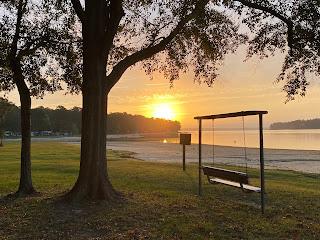 Sunrise at White Oak COE Campground
