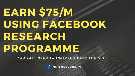 Facebook Research App earn money unlimited
