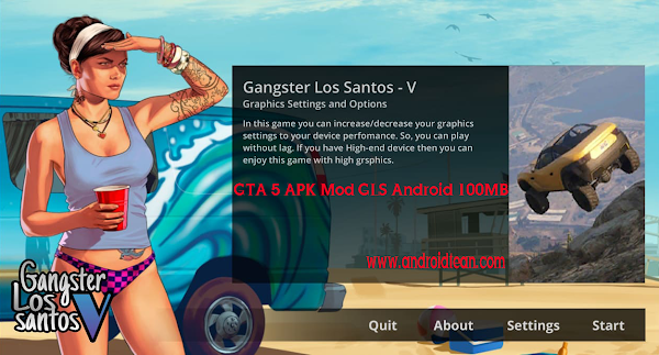 GTA 5 APK Mod GLS Android 100MB Download