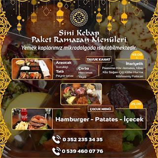 kayseri iftar yemeği kayseri iftar sipariş iftar menüleri 2020 sini kebap  ramazan iftar menüsü