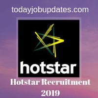 Hotstar Recruitment 2019