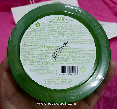 nature republic review aloe vera 92% shooting gel