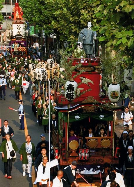 Mikoshi & Dashi Parade at Hikawa Jinja Shrine, Akasaka, Tokyo