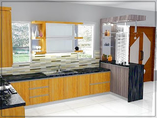 Dapur Rumah Minimalis Ukuran 2 x 2 dengan kitchen set mini