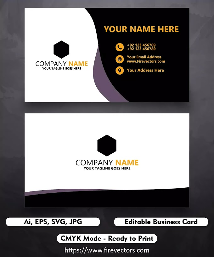 Business Card Template Ai by The Graphics Market