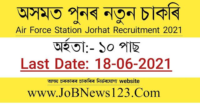 Air Force Station Jorhat Recruitment 2021: