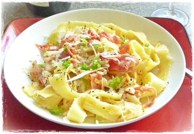 delicious bowl of haluski