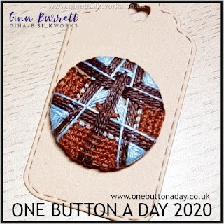 One Button a Day 2020 by Gina Barrett - Day 55 : Headway