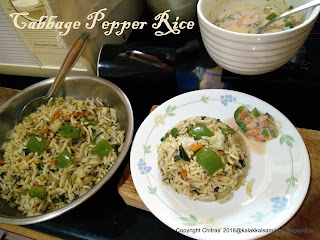 Cabbage pepper rice