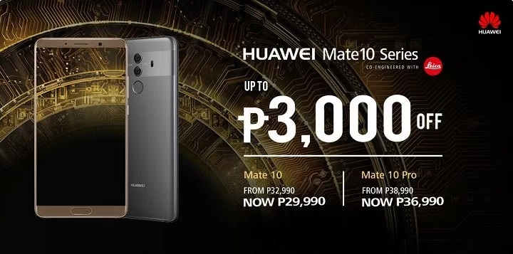 Huawei Mate 10, Mate 10 Pro Drop Price