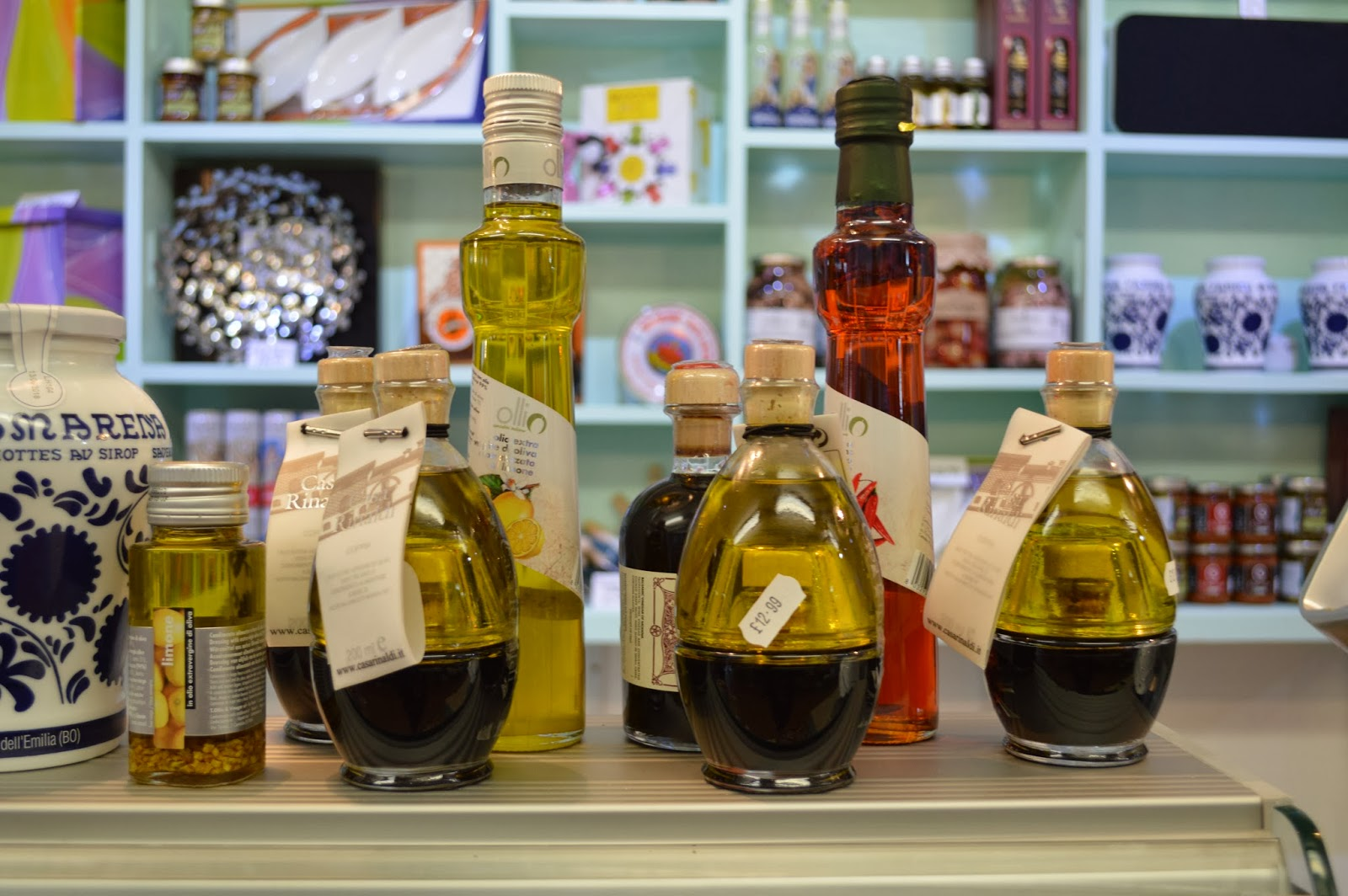 Olive Oils at Just So Italian Deli