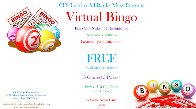 Virtual Bingo Poster - English