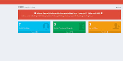 Aplikasi Surat Pengantar RT/RW Berbasis Web - Codeigniter
