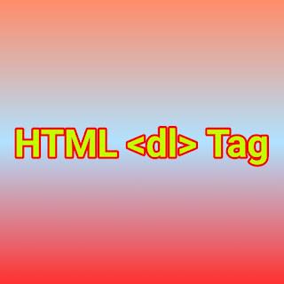 HTML <dl> Tag
