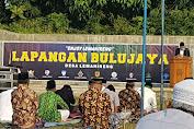 Masyarakat Desa Lemah Ireng Laksanakan Sholat Idul Fitri Dengan Terapkan Prokes