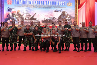 Kapolda Jambi Hadiri Rapim TNI-Polri Tahun 2020 yang dipimpin Panglima TNI dan Kapolri