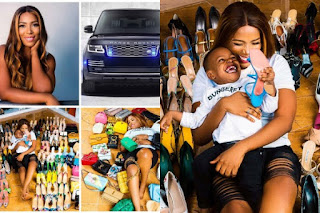 Linda Ikeji Celebrates Her 40th Birthday With Range Rover 2020 Model, 85 Designer Shoes And 40 Bags