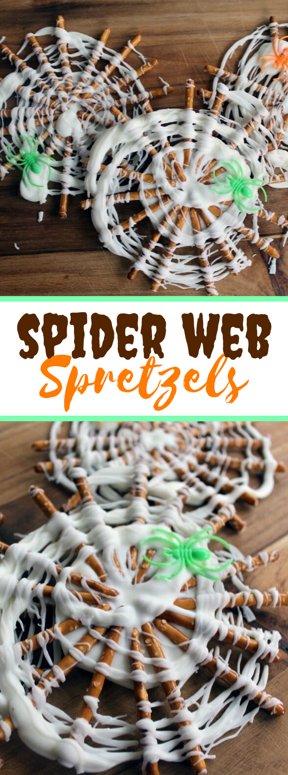 Spider Web Pretzels – Easy Halloween Treat #desserts #kidfriendly
