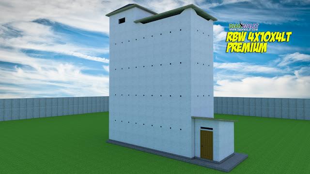 Desain Bangunan Walet 4x10 4 Lantai Premium