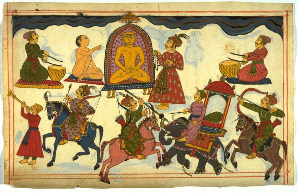 Jain Tirthankara and Worshippers