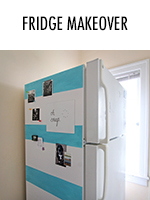 Turn your refrigerator from bland to bold using shelf liner & paint