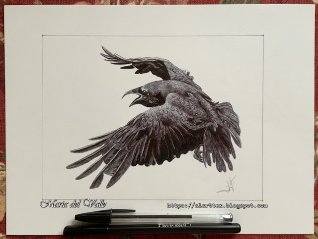 INKTOBER - 31 Days 31 Drawings - Day 04 - Raven/Corbeau/Cuervo