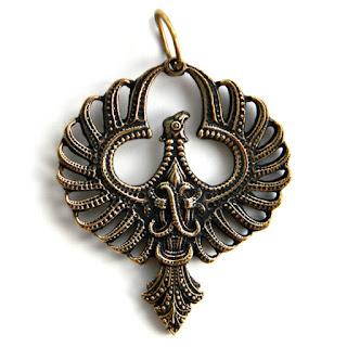 купить амулет феникс солнце подвеска с птицей феникс бронзовые украшения оптом